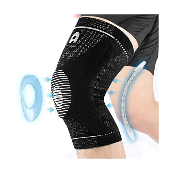 Professional Sports Knee Brace with Side Stabilizers, High Elasticity Knee Compression...