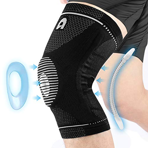 Professional Sports Knee Brace with Side Stabilizers, High Elasticity Knee Compression Sleeves For...