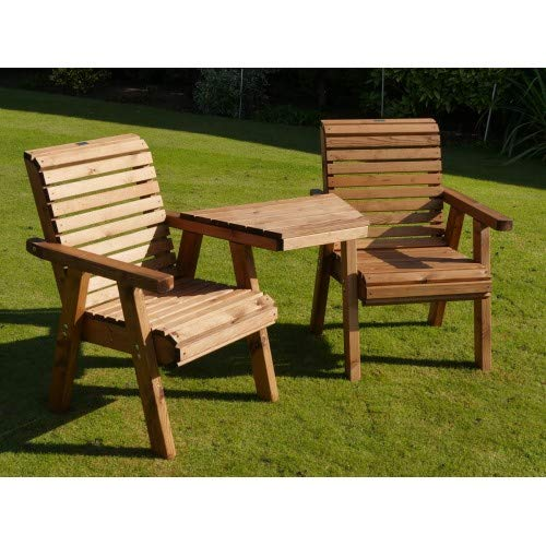 Riverco Flatpack Loveseat Angled Style - Companion Seat For Two People - Premium Outdoor Garden Furniture