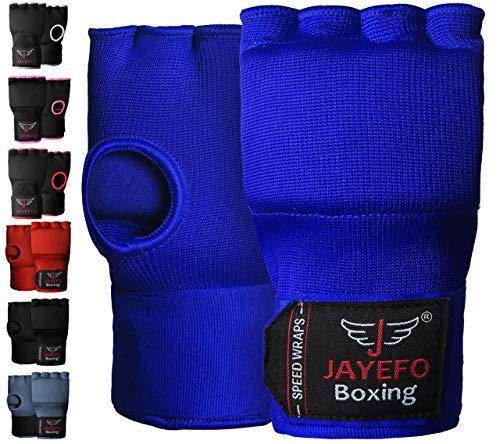 Jayefo Sports Kickboxing Speed Wraps Fast Hand Wraps for Boxing Gloves Inner Insert Fingerless...