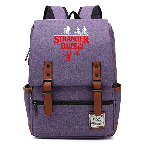 Mochila para portátil Escolar Mochila de Ocio Mochila Retro para niño Mochila de Viaje Mochila de Gran Capacidad Mochila Grande púrpura