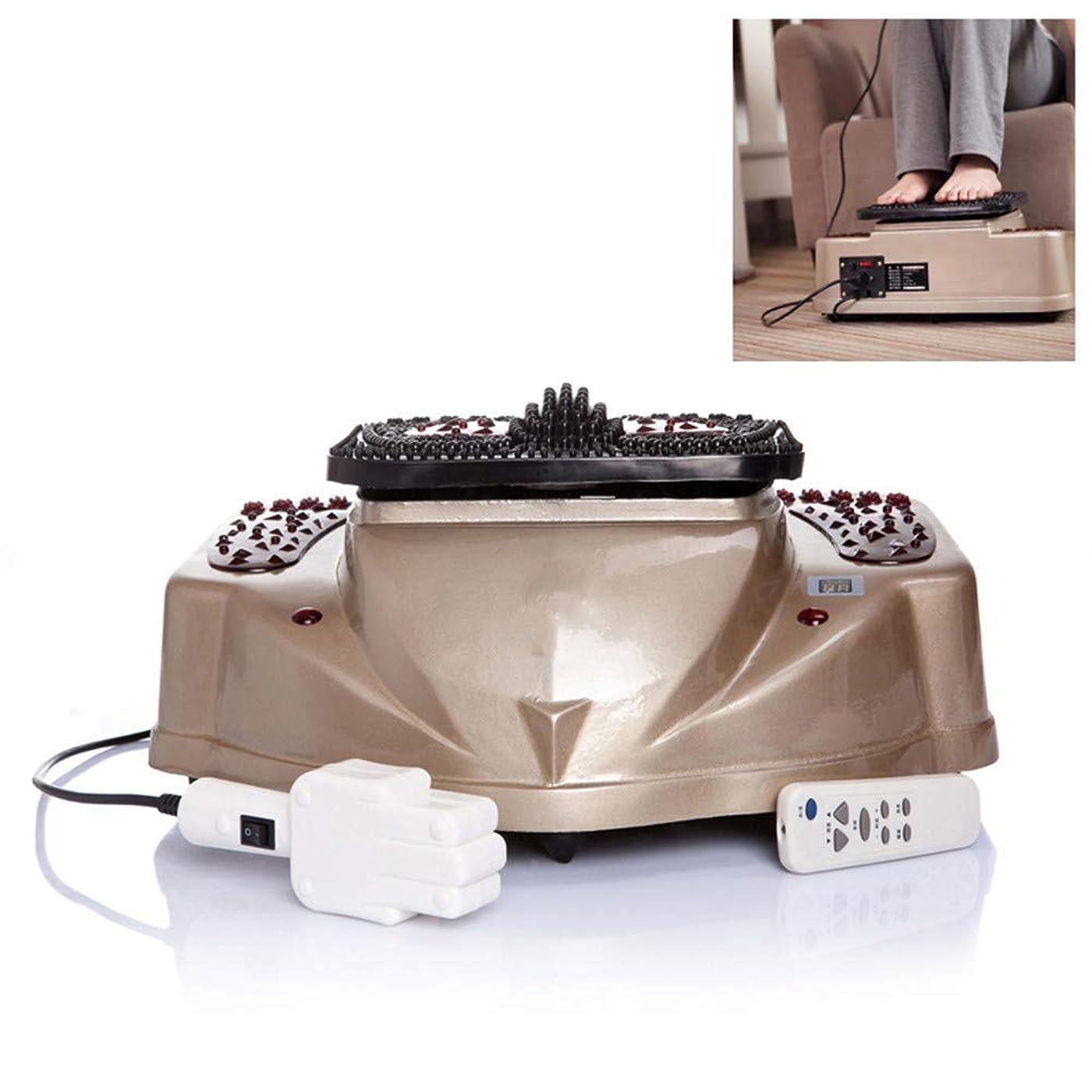 参照するモスク早いワイヤレスコントロールフットマッサージャー足の赤外線電気音声デジタルフット豪華血液循環マッサージ機