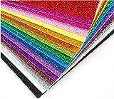 TOSSPER 10sheets Glitter Sparkles Papel De La Espuma De Papel para Los Niños De Artesanía Actividades Cortadores De Hojas De Papel Artesanal Flash Espuma Color Azar