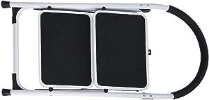 2/1 Step Ladder Step Stool Folding Portable Ladder,Unine Steel Frame with Safety Non-Slip Wide Pedal,Kitchen and Home Stepladder (2 Step)