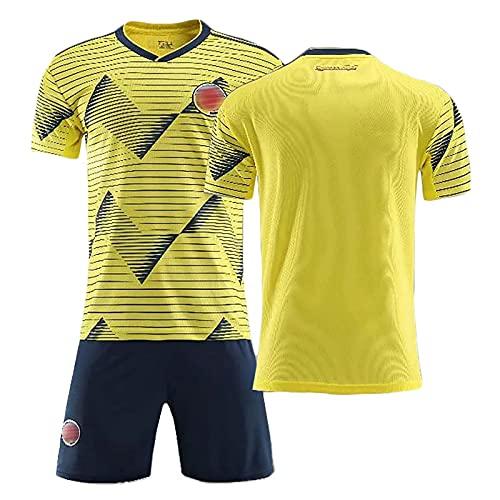 Divisa da Calcio 2021, Maglia Colombia Home Falcao 9, Maglia da Calcio Personalizzabile, Tuta da Allenamento per Bambini Adulti Abbigliamento Sportivo T-Shirt Pantaloncini,B,XXL/XX~Large
