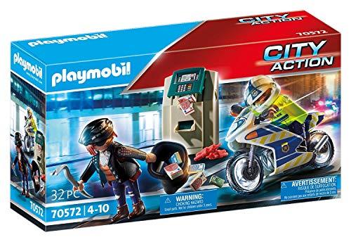 PLAYMOBIL City Action 70572 - Poliziotto in Moto e Ladro, dai 4 ai 10 Anni