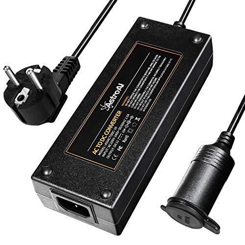 AstroAI Transformadores 220V a 12V Continuos 120W con Sistemas de Protección contra Cortocircuitoa y Sobrecargas, Adaptador Mechero a Enchufe Cable 1,5M