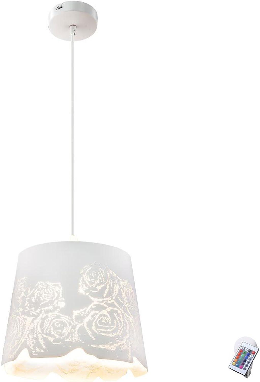 Lampe suspendue télécomhommede éclairage de plafond salon roses graduables dans le jeu incl. lampes LED RGB