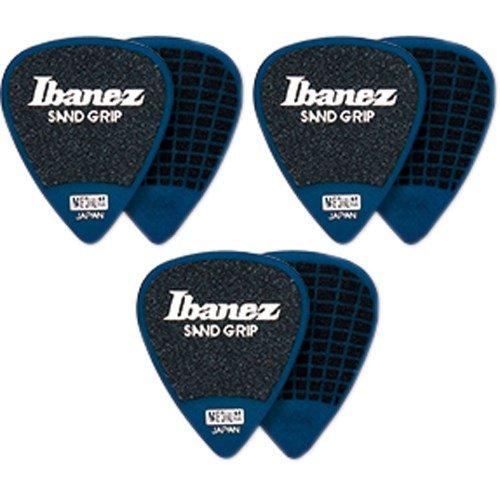 IBANEZ Flat Pick Sand Grip - blau 6 Stück (PPA14HSG-DB)