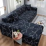 Funda de sofá elástica de Color sólido Spandex Moderno poliéster Esquina sofá sofá Funda Protectora para Silla Sala de Estar A15 4 plazas