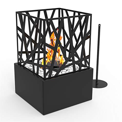 Regal Flame Indoor Outdoor Bruno Ventless Tabletop Portable Bio Ethanol Fireplace - Black