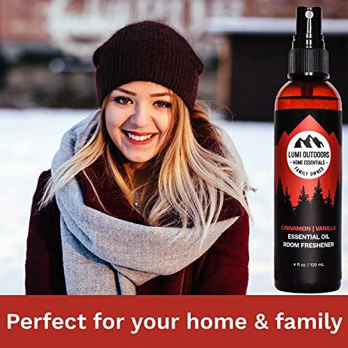 Natural Air Freshener - Cinnamon Vanilla - Essential Oil Odor Eliminating Room Spray