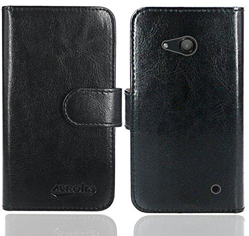 FoneExpert® Microsoft Lumia 550 Handy Tasche, Wallet Hülle Flip Cover Hüllen Etui Ledertasche Lederhülle Premium Schutzhülle für Microsoft Lumia 550 (Wallet Schwarz)