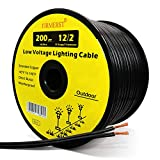 FIRMERST 12/2 Low Voltage Wire Outdoor Landscape Lighting Cable 200 Feet