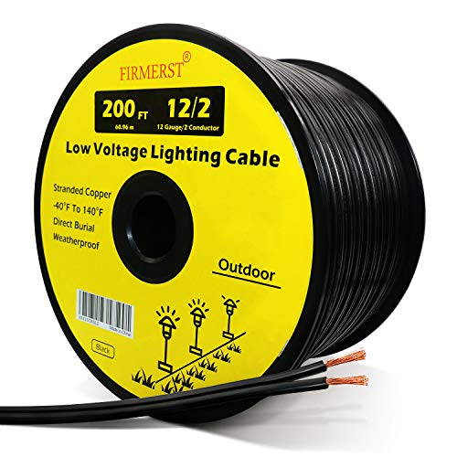 FIRMERST 12/2 Low Voltage Wire Outdoor Landscape...