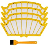 HIFROM Filter and Cleaning Brush Replacement for iRobot Roomba 500 Series 560 510 530 531 532 535 540 545 550 551 555 562 563 570 580 581 582 585 610 Vacuum Cleaner Accessory (4 Filter + 1 Brush)