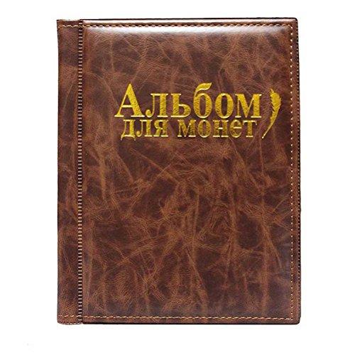 VORCOOL Album Monedas Coleccion 250 Bolsillos (Marrón)