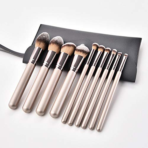 LJTJX Pinceau De Maquillage 10 Pcs Pinceau De Maquillage Ensemble Foundation Blusher Lèvres Maquillage Pinceau Cosmétique Ensemble Outil