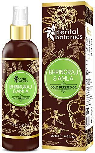 Glamorous Hub Oriental Botanics Bhringraj & Amla Oil For Hair 200ml (Sin...