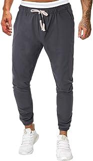 FRAUIT Pantaloni Jogging Running Sportivi Pantaloni Uomo Lunghi Cargo con Coulisse Pantalone Tuta Ragazzo Cotone Leggero P...
