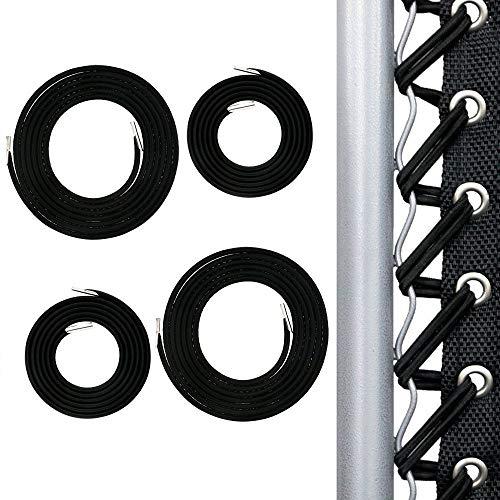 PopHMN Sillas de Tumbona Cuerda, 4PCS Silla Plegable Cuerda elástica Cuerda Silla de jardín Cordones de reparación Reclinables al Aire Libre Cuerda (Negro)