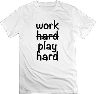 TangChuan Womens Work Hard Play Hard2 Funny White T-Shirt