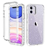 LONTECT for iPhone 11 Case Built-in Screen Protector Glitter...