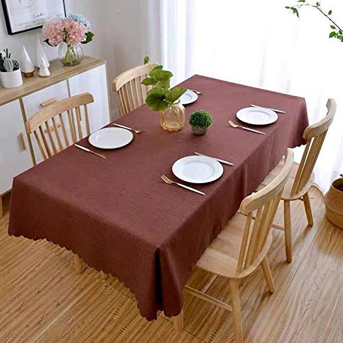 YuHengJin Rectangular Tablecloth Dining Table Cover Anti Scalding Cotton and Linen for Home Decor Kitchen Garden Outdoor Red 120×120cm