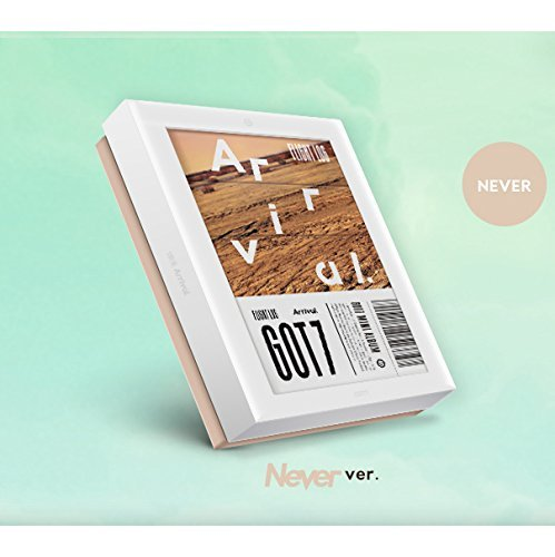 GOT7 - [FLIGHT LOG:ARRIVAL] Album NEVER VERSION CD+Clear Album Cover+PhotoBook Set(3ea)+4p Card SEALED