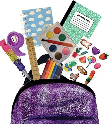 Joy Toy- Micropacks-Mini zainetti con Clip on e cancelleria, Multicolore, ST07