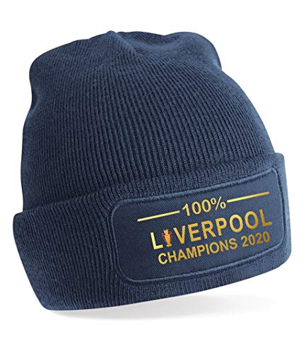 100% Liverpool League Champions 2020 Beanie-Mütze, Marineblau