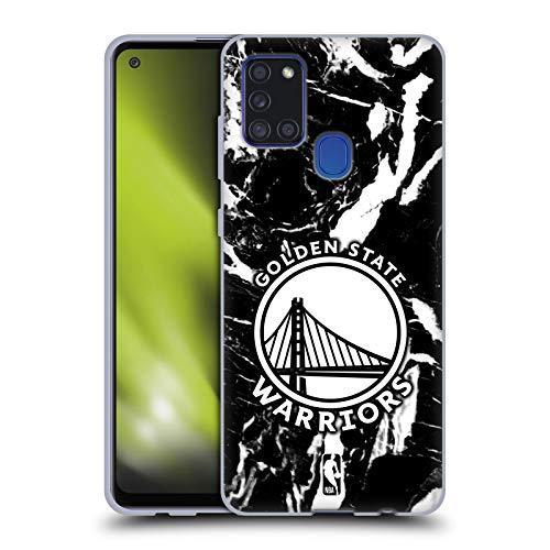 Head Case Designs Oficial NBA Mármol 2019/20 Golden State Warriors Carcasa de Gel de Silicona Compatible con Samsung Galaxy A21s (2020)