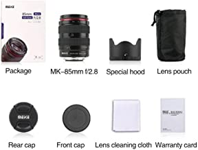 Meike MK-85-2.8 85mm F2.8 Manual Focus Lens Full Frame APS-C for Canon Nikon DSLR Camera Sony Fuji 4/3 Mount Mirrorless Cameras (85mm/2.8nikon)