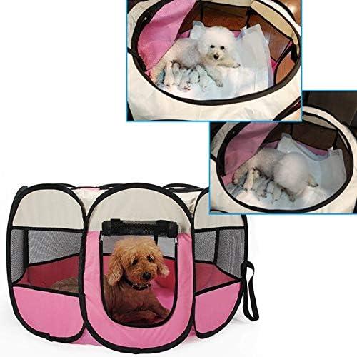 Keesin Parc portable pliable en maille pour animal domestique 8 panneaux
