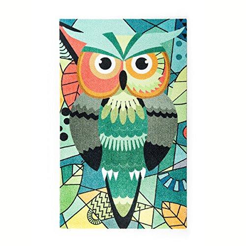 Kleentex Tapijt Abstract Owl 70cm x 120cm tapijtloper deurmat vloerbedekking