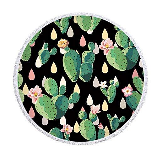 Vanzelu badhanddoek strandhanddoek zwemmen sjaal, woestijn Cactus picknick Mat, microvezel, 150X150Cm