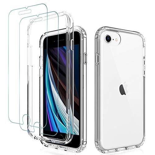 KEEPXYZ Funda para iPhone SE 2020 + 2 Pcs Protector de Pantalla...