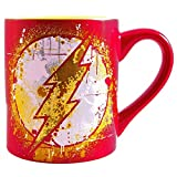 Flash Splatter Paint 20 Ounce 20-Ounce Ceramic Mug, Red