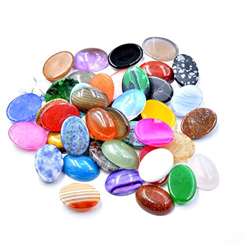 FISH4 10X14Mm Natural Volcano Cherry Quartz Gem Stones Oval Cabochon Cab No Drill Hole Jewelry Making-Clear