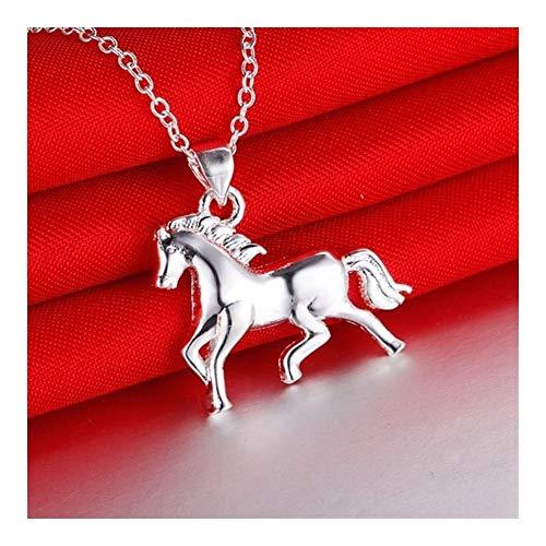 chenyou Collar con colgante para mujer, diseño de animales creativos, diseño de caballo (color de metal: collar)
