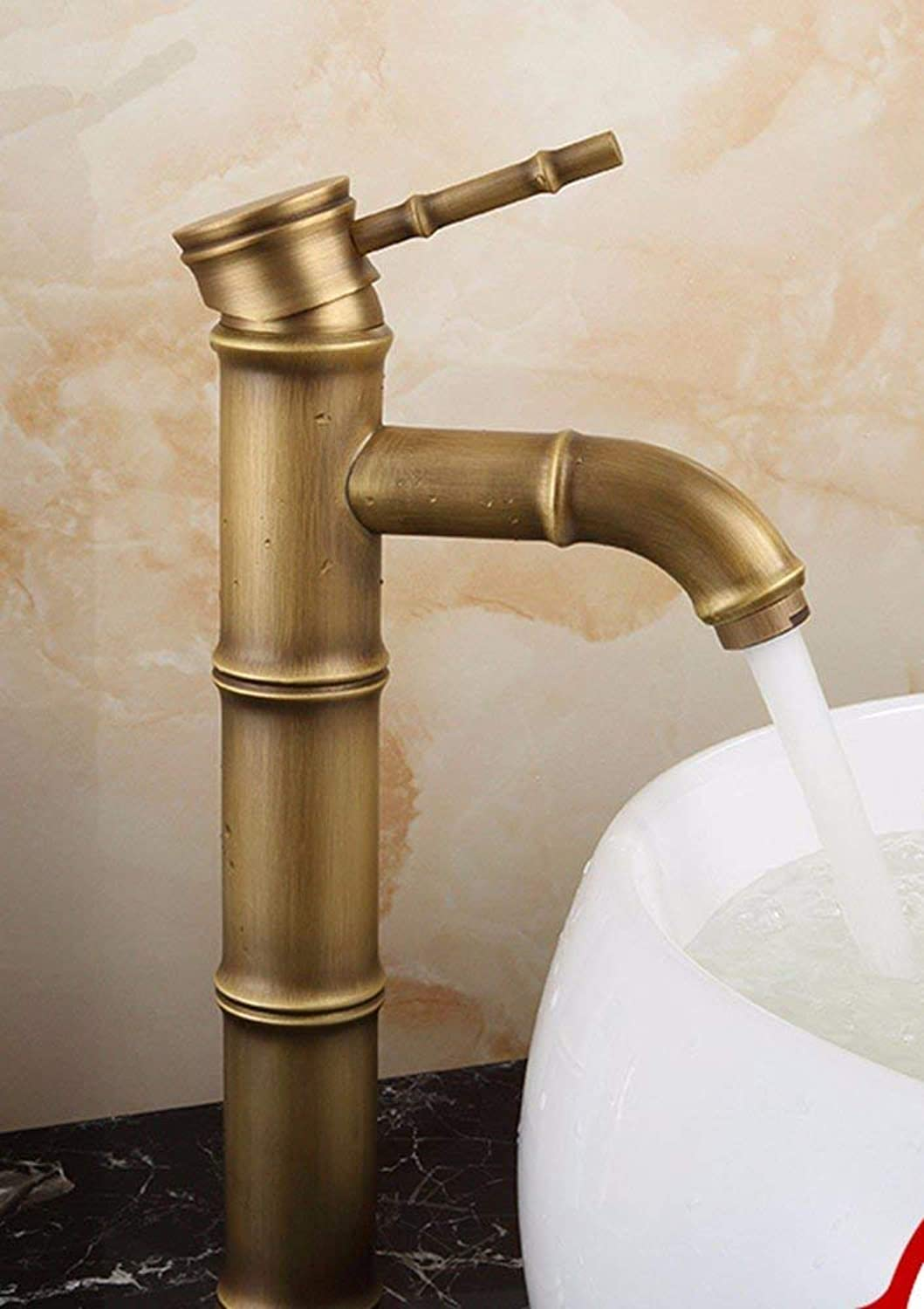 Oudan European style retro style copper Hot and cold surfacePots Sink faucet