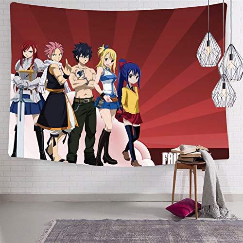 3354 Happy Fa-iry Ta-il Tapiz para colgar en la pared, suave y divertido, decoración estética para habitación de cama de 188 x 222.5 cm