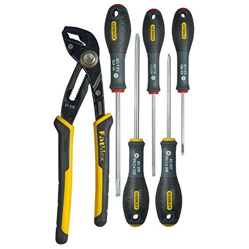 Stanley FMHT0-62639 Fat Max stekkerdoos met vergrendeling en elektrische schroevendraaier, geel/zwart