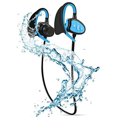 Festnight IPX8 Auriculares BT Impermeables CSR Auriculares estéreo inalámbricos con micrófono Bass Sports con Auricular