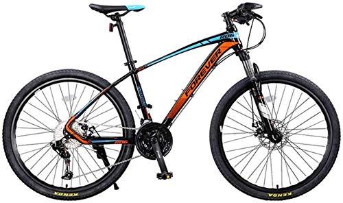 MJY Mountain Bike, Full Suspension Mountain Bike da uomo 26 'Frame 33-Speed Oil Brake Brake Speed Bike Off-Road Racing 6-6,Blu