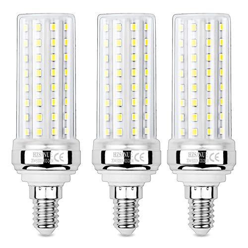 HZSANUE E14 LED Mais Glühbirnen 20W, 6000K Tageslicht Weiß, 2000Lm,Kleine Edison Schraube Kerze Leuchtmittel, 150W Glühlampe Äquivalent,Nicht dimmbar, 3er-Pack