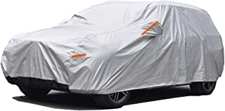 GUNHYI Outdoor Car Covers for Automobiles Waterproof All Weather, 6 Layer Heavy Duty Cover Sun uv Protection, Universal Fit SUV (Length 177-190inch)