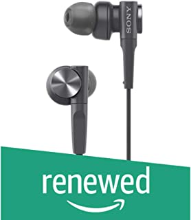 (Renewed) Sony MDR-XB55 Extra-Bass in-Ear Headphones (Black)