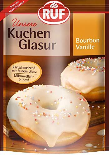 RUF Kuchenglasur Bourbon Vanille mikrowellengeeignet, 6er Pack (6 x 100 g)