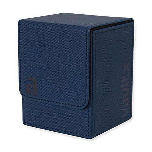 Vault X ® Premium eXo-Tec Sammelkarten Box für 100+ Karten - ohne PVC Karten Halter für Spielkarten zum Sammeln und Tauschen (Blau)